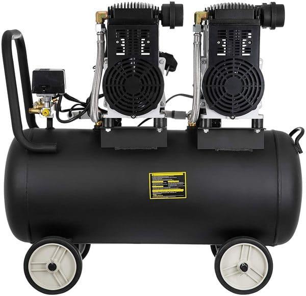 Bisujerro Compresor de Aire 3200W 70L sin Aceite Compresor Aire Silencioso Compresor Aire Coche 65DB 8