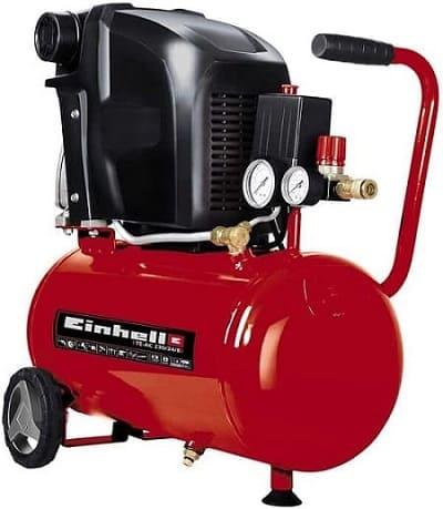 Compresor de aire einhell rojo y negro