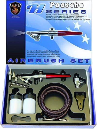 aerografo paasche airbrush set single action sifon feed