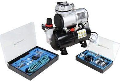 Timbertech-ABPST06-aerografo-con-compresor-Kit-de-aerografos-y-compresor-de-embolo