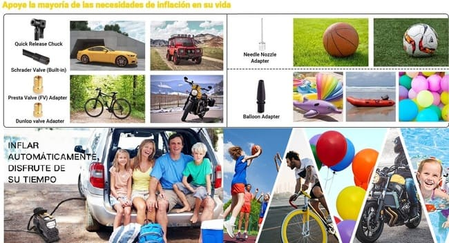 compresor de aire portátil para coche