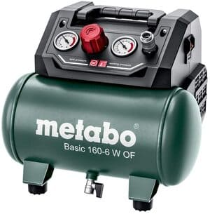 Metabo-Compresor-Basic-160-6-W-of-Caldera-6-l-Presion-8-Bar-Potencia-de-aspiracion-160-l-Capacidad-de-llenado-65-l