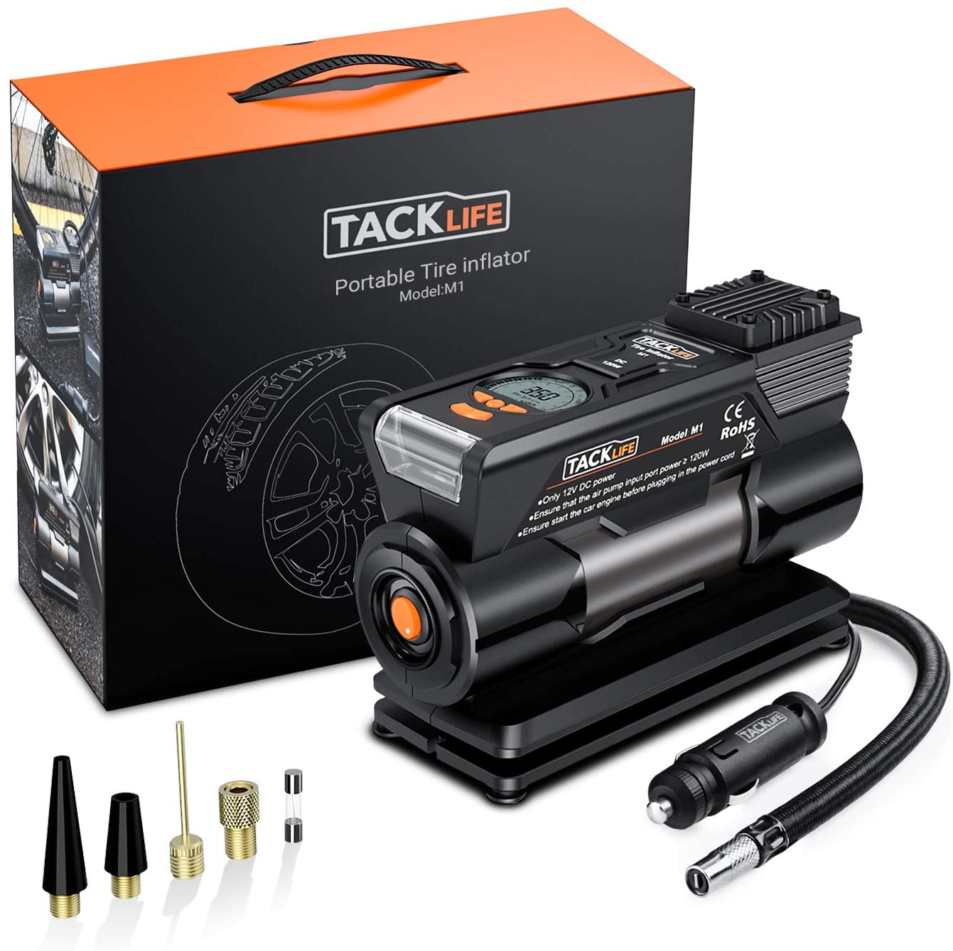 TACKLIFE-M1-Compresor-Aire-Coche-40L-Min
