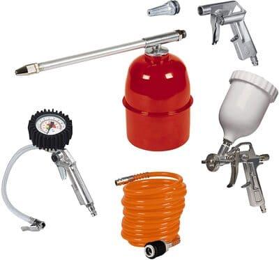 accesorios compresor, einhell kit de accesorios para compresor de aire