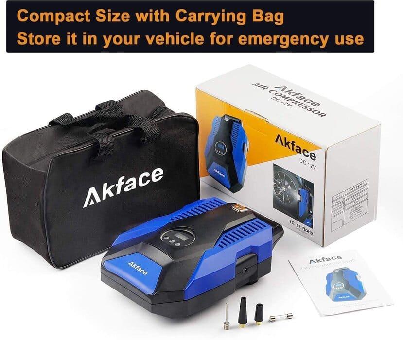 akface compresor de aire coche diseño compacto