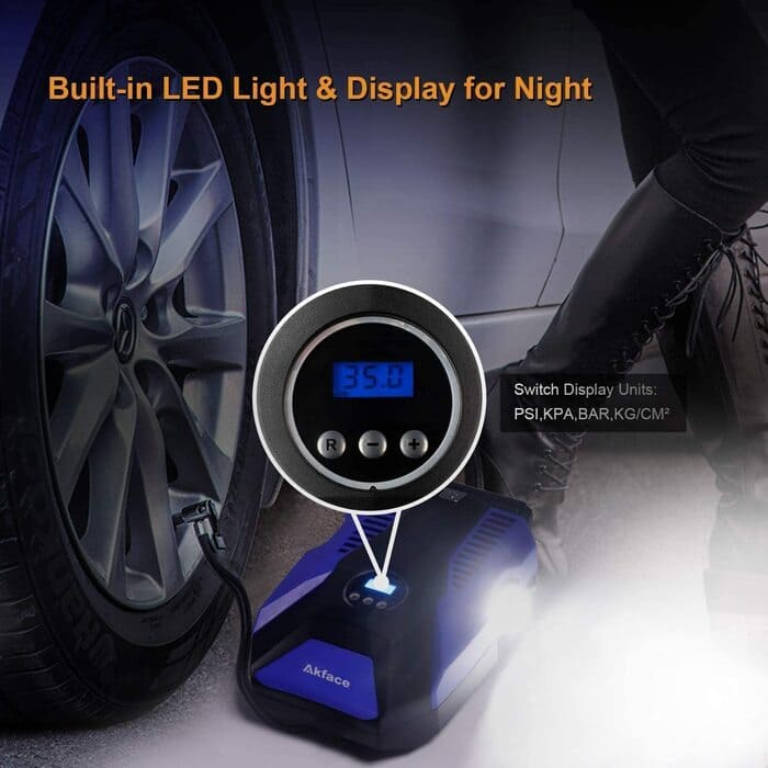 akface compresor de aire coche marcador digital